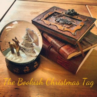 The Bookish Christmas Book Tag (Feel free to use this little logo I made if you decide to do the tag yourself)